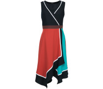 Asymmetrisches Kleid in Colour-Block-Optik