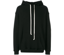 contrast drawstring hoodie