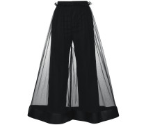flared sheer trousers