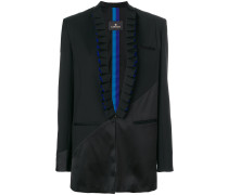 pleated lapel blazer