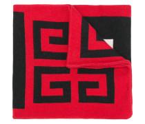 Schal mit Intarsien-Logo