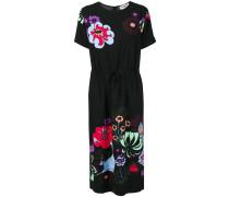 Run gathered waist floral dress