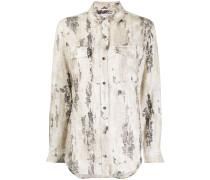 Langarmshirt mit abstraktem Print
