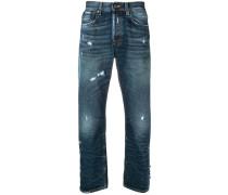 Gerade Jeans mit Distressed-Optik