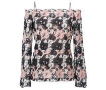 off-shoulder patterned top