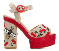 Aloe embroidered sandals