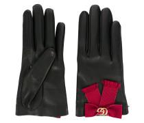 bow-embellished gloves