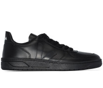 black V-10 leather sneakers