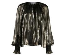 'Helena' Metallic-Bluse