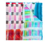 check printed woven scarf