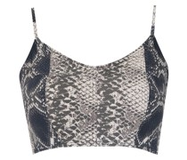 Cropped-Top mit Print