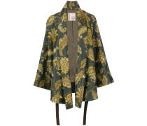 Kimonojacke mit Blatt-Print