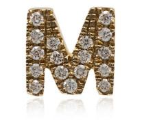 M-Anhänger mit Diamanten
