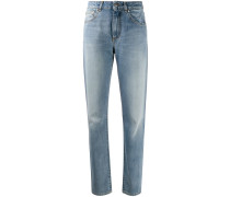 Gerade Jeans mit Patch