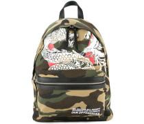 Dragon print backpack