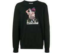 Sweatshirt mit Collagen-Print