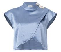 Cropped-Bluse in Wickeloptik
