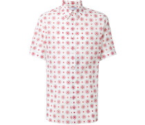 folk embroidery print shirt