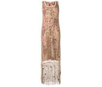 Kleid mit Netz-Overlay