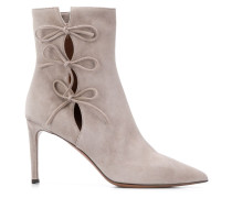 string bow ankle boots