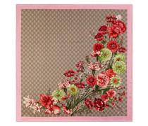 Seidenschal mit Blütenmuster