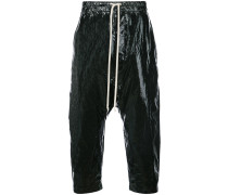 drop crotch cropped trousers