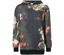 Kapuzenpullover mit floralem Print