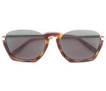 Saffiano geometric sunglasses