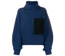 Pullover mit Kontrasttaschen