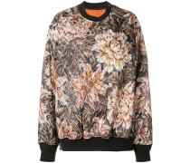 Oversized-Pullover mit Blumenmuster
