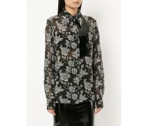 floral print sheer shirt