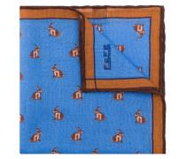 Kaschmir-Einstecktuch mit Hasen-Print