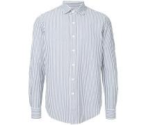 oversized pinstriped shirt