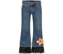 Bestickte Jeans