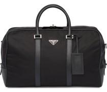 Reisetasche mit Saffiano-Besatz
