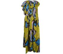 Asymmetrisches Kleid mit Paisley-Print