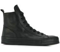 zipped high top sneakers
