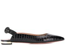 crocodile embossed slingback pumps