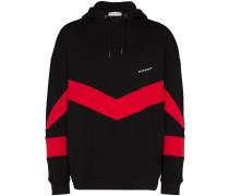 contrast stripe hoodie