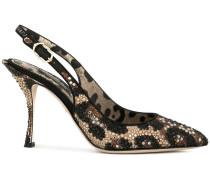 Slingback-Pumps mit Leoparden-Print