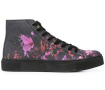 High-Top-Sneakers mit Blumen-Print