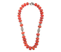 coral Maharajah beaded necklace