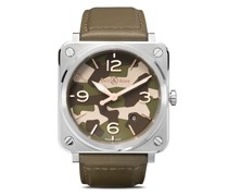 'BR-S Green Camo' Armbanduhr