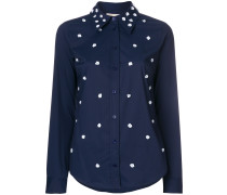 flower embellished shirt