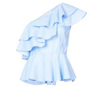 one-shoulder frill blouse