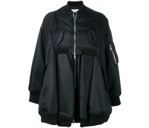 oversized nylon bomber jacket