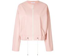 cropped collarless jacket