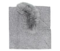 Schal mit Pelzbesatz