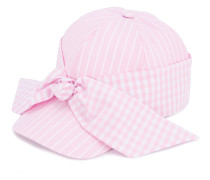 gingham bow cap