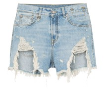 'Tilly' Jeansshorts in Distressed-Optik